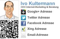Social Media Visitenkarte
