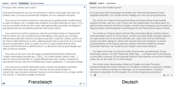 Google Translate - Contentklaumaschine