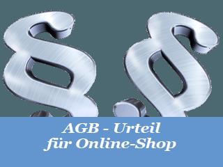 AGB Urteil Online Shop